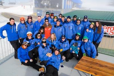 Snowboard School Group Photo