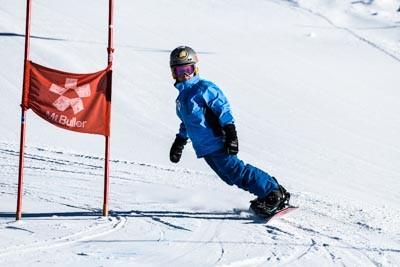 Snowboard School Races Skyline