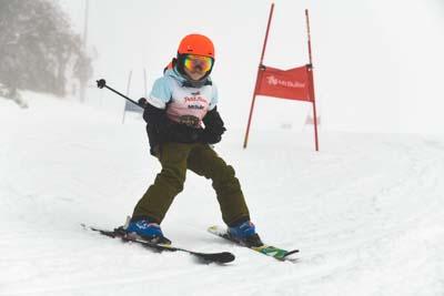 Ski School Race Action
