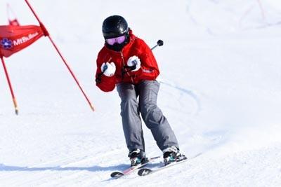 Ski School Race Skyline